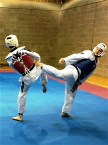 two members sparring